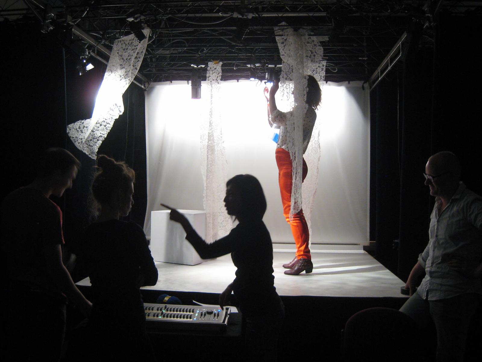 workshop in schaaltheater bij Stage Design